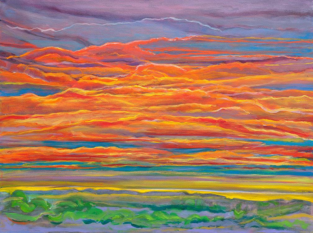 Orange Sky Glow
