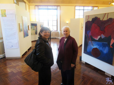 Artist: Jean Blumberg (right) & Guest (left)